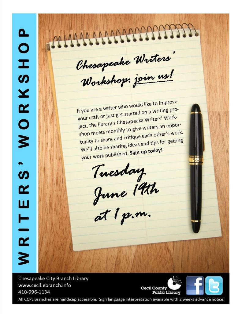 Chesapeake Writers' Workshop to help writers get writing