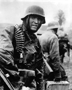 A German soldier in the Ardennes during the battle.