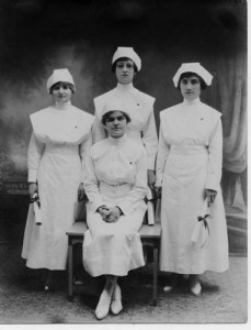 Nurses in Elkton in 1919.