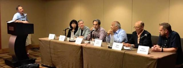 There is yours truly (third from left) as part of the time management for writers panel at Thrillerfest, along with (from left) Matt Richtel, Marti Green, Michael Kardos, Adam Mitzner, Mike Pace, and Peter Swanson.