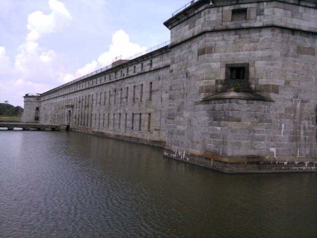 The moat at Fort Delaware, on Pea Patch Island, source of more than a few Civil War legends.