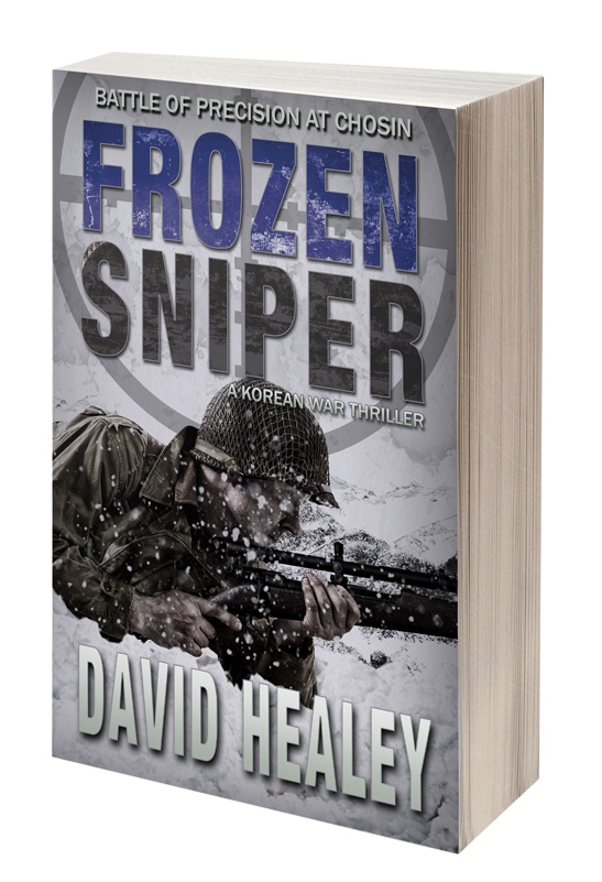 Sniper lying in snow